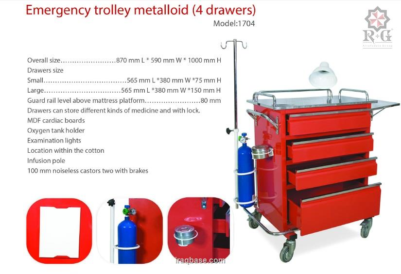 Emergency trolly metalloid model  1704