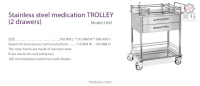 Stainless Steel Medication Trolley (2drawers) Model  1645