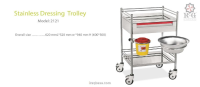 Stainless Dressing Trolley Model 2121